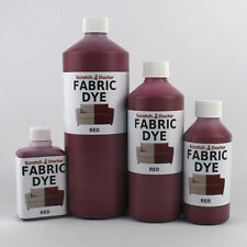 RED Liquid Fabric Dye for Sofa, Clothes, Denim, Upholstery etc. ALL SIZES