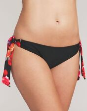 Midnight Grace Swimwear Flamenco Rose Bikini Brief Tie Side 127502 Select Size 14