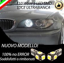 COPPIA LUCI DI POSIZIONE A LED BMW SERIE 3 E46 T10 BIANCO W5W CANBUS NO AVARIA