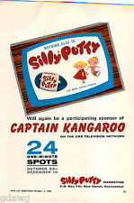 1967 ADVERT Silly Putty Toy Captain Kangaroo Marketing COLOR Ad