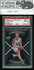 2008-09 Upper Deck Starquest Black #SQ-3 Larry Bird PSA 10 (HoF Boston Celtics)