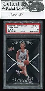 2008-09 Upper Deck Starquest Black #SQ-3 Larry Bird PSA 10 (HoF Boston Celtics)