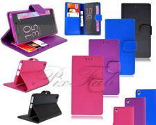 Fundas y carcasas lisos de piel para teléfonos móviles y PDAs Sony
