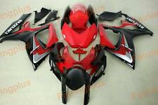 Aftermarket Fairing kit fit for Suzuki gsxr600/750 06-07 2006 2007 red and black