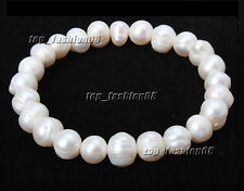 Free shipping AAA+ Natural Fresh Water Pearls Mixed Beads Bracelet Wedding Gift