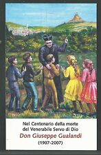 estampa del Siervo Gualandi santino holy card image pieuse