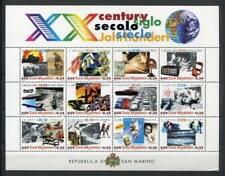 29913) San Marino 2000 MNH New Century Events S/S Bf