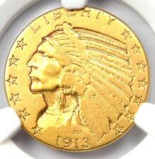 """1913-S Indian Gold Half Eagle $5 Coin - Certified NGC XF45 - Rare """"S"""" Mint!"""