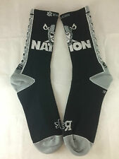 "Oakland Raider, ""Raider Nation"" socks (Blk, MD, unisex)"