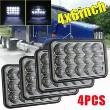 "4X DOT 105W LED Headlights For Freightliner FLD120 FLD112 4x6"" Light Hi/Lo Beam"