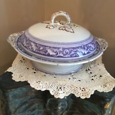 Flow Mulberry Royal Doulton  Footed Dish Maltese Scroll Circa 1870 Free Ship