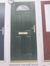 Bannockburn brass clarity/Gold Composite Door (£645 Fully Fitted)