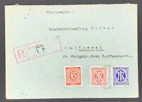 Alliierte Besetzung Einschreiben Rotenburg Fulda n. Kassel 1946
