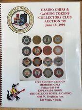 "1999 CASINO CHIP AUCTION CATALOG CC&GTCC CCA  GAMBLING ""POKER CHIP"""