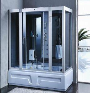 XXL Luxus LED Dampfdusche inkl. Whirlpool Duschtempel Komplettdusche +Radio....