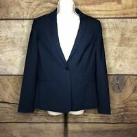 Elie Tahari Womens Size 12 Darcy Jacket Navy Wool New Career Work Blazer