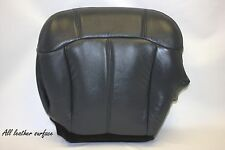 2001 2002 GMC Sierra 1500 2500 3500 Driver Bottom Leather Seat Cover Gray Black
