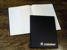"New, Adams Account Book, 4 Column, 7""x9.25"", Black, 80 Pages (ARB8004M), Ledger"