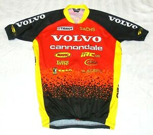 """NEAR-PERFECT VINTAGE VOLVO CANNONDALE MTB TEAM JERSEY. XL 44"""" CIRCUMFERENCE"""