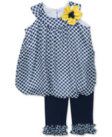 Rare Editions Baby Girls' 2-Piece Dot Tunic & Leggings Set, 3/6 Months