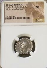 Roman Republic Sulpicius & Galba Denarius NGC VF Ancient Silver Coin