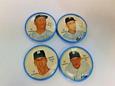 1962/1963 Salada tea baseball coins lot of 4x NEW YORK YANKEES vg+ COND