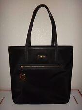 MICHAEL KORS Kempton Women's MK LG Tote Purse Bag Black Nylon Leather 38S7XKPT3C