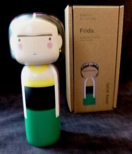 LUCIE KAAS Wooden Kokeshi doll figurine FRIDA KAHLO  BNIB ARTIST