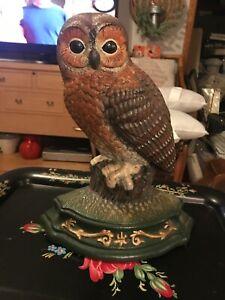 Cast iron Wright studio owl door stop. Vintage.
