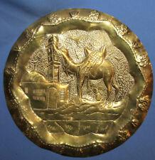 Vintage Arabic Wall Decor Brass Plaque Camel