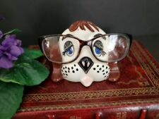 Vintage ARNELS Ceramic Puppy Dog Head Eyeglasses Holder