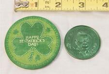 Vintage Pinback Lot Happy St Patricks Day Richard Dick Burke Channel Parade