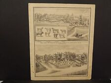 Ilinois Cass County Map Stock Farm of Wm. Setevenson 1874 !J15#05