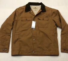 Nwt Mens Woolrich Light Brown Sherpa Fur Lined Jacket Work Coat Large $127