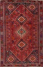 """Tribal 6x9 Geometric Area Rugs Hand-Knotted Vintage Red Oriental 9' 6"""" x 5' 10"""""""