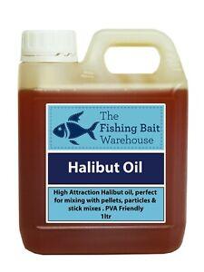 Halibut Oil 1ltr | Fishing bait, Carp Attractant, Bait Dip, PVA Friendly 1 litre