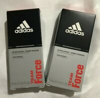 Lot/2 Adidas Team Force After Shave Revitalizing Active Fragrance 0.5 fl oz New