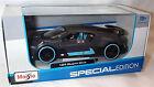 Bugatti Divo Dark gey Matt Blue Trim Diecast 1-24 scale New in box