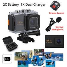 Wifi 4K HD 1080P EIS Action Video Camera Waterproof DVR w/ Mic/Remote Gopro Bag