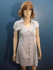 XL brown/white SPARKLE STRIPED BUTTON UP dress by SOULMATES