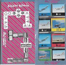 TUNISAIR COMPAGNIA AEREA AVIAZIONE GADGET DOMINO A300 320 DC3 4 CARAVELLE B737