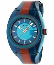 Gucci Sync XL 43mm Quartz Blue Dial Two-tone Men's Watch YA137112