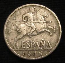 *GUTSE* FRANCO-761, 10 CÉNTIMOS 1945, ERROR (4d), CUÑO EMPASTADO