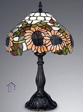 Sunflower Design Tiffany Handcrafted Table Lamps 12'' Inch Shade- CHRISTMAS GIFT