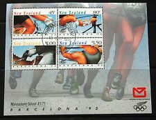 New Zealand 1992 Olympic Games Barcelona Stamp Sheet VFU CTO