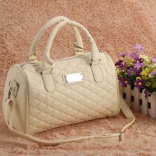 Fashion Women Tote Purse Handbag Shoulder Bags PU Beige Lady Messenger Hobo Bag