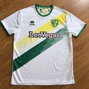 Errea 2018/19 Norwich City Away Jersey Shirt Soccer Football L