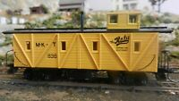 Roundhouse MDC HO Old Time Katy (MKT) Outside Braced Caboose, Upgraded, Exc