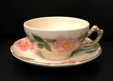 Four Franciscan Desert Rose Pattern Cup and Saucer Pairs