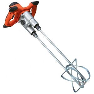 Twin Paddle 1600W Mixer Drill Paint Glue Cement Tile Grout Plaster 1600 Watt